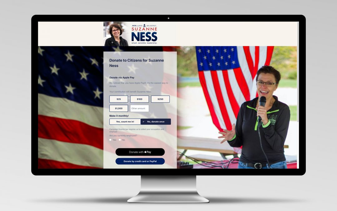 Campaign Website for Suzanne Ness